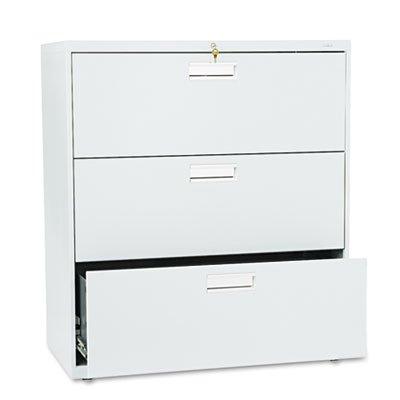 HON 683LQ 600 Series Three-Drawer Lateral File 36w x 19-14d Light Gray