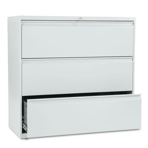 HON 893LQ 800 Series Three-Drawer Lateral File 42w x 19-14d x 40-78h Light Gray