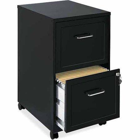 NEW filling cabinet 18 2-Drawer Mobile File Cabinet Black