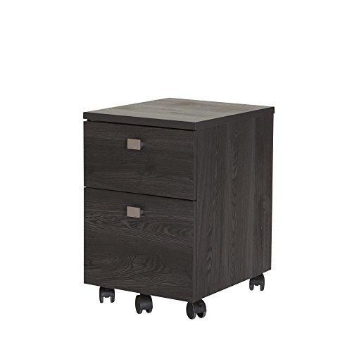 South Shore Interface 2-Drawer Mobile File Cabinet Gray Oak