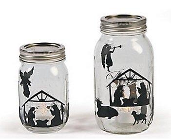 Christmas Holiday Nativity Mason Jar Decal Sticker Set - 24 Sheets