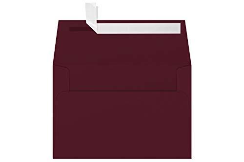 LUXPaper A4 Invitation Envelopes for 4 x 6 Cards in 80 lb Burgundy Linen Printable Envelopes for Invitations 250 Pack Envelope Size 4 14 x 6 14 Burgundy