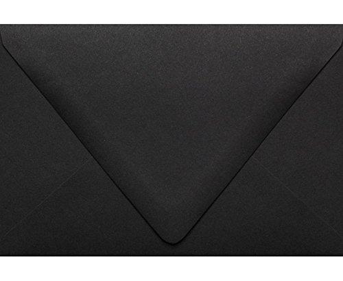 LUXPaper A4 Invitation Envelopes for 4 x 6 Cards in 80 lb Midnight Black Printable Envelopes for Invitations 50 Pack Envelope Size 4 14 x 6 14 Black