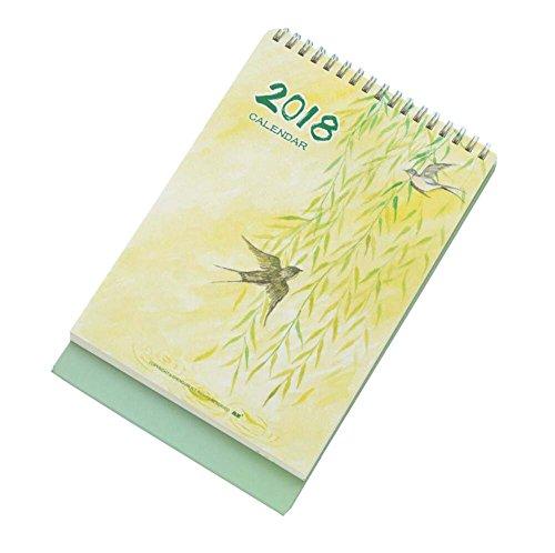 2017-2018 Mini Desk Standing Calendar Classic Scenery Notes Calendar Spring