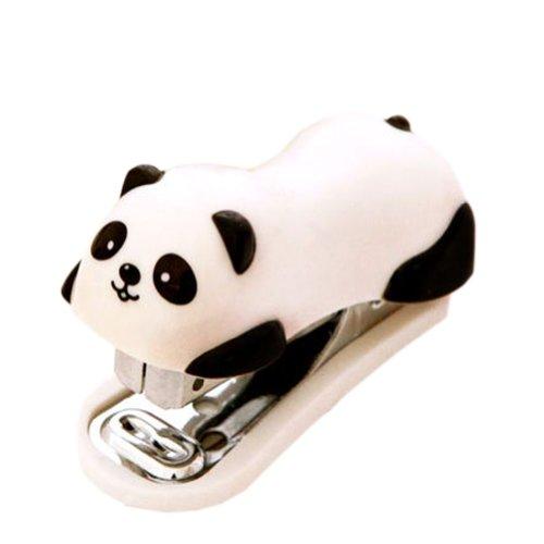 Cute Panda Mini Desktop Stapler&Staple Hand Stapler OfficeHome Stapler625CM