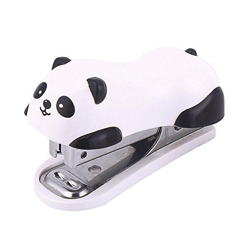 DECORA Cute Panda Mini Desktop Stapler&Staple Handy Stapler OfficeHome Stapler6X25CM