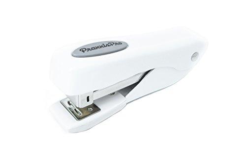 Small Office Stapler PraxxisPro Fortis Compact Grip Mini Desktop Stapler White