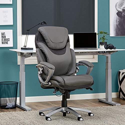 Serta Air Health and Wellness Executive Office Chair Grey Light Gray