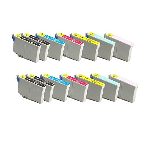 14 Pack Remanufactured Inkjet Cartridge Replacement for Artisan 50 Stylus Photo R260 Stylus Photo R280 Stylus Photo R380 Stylus Photo RX580 Stylus Photo RX595 Stylus Photo RX680