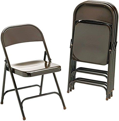Virco 16213M Metal Folding Chairs Mocha Fourcarton