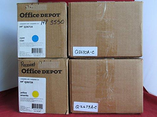 4 Pack-New Compatilbe HP Q2670A Q2671A Q2672A Q2673A For HP Color LaserJet 3500 3550 Series