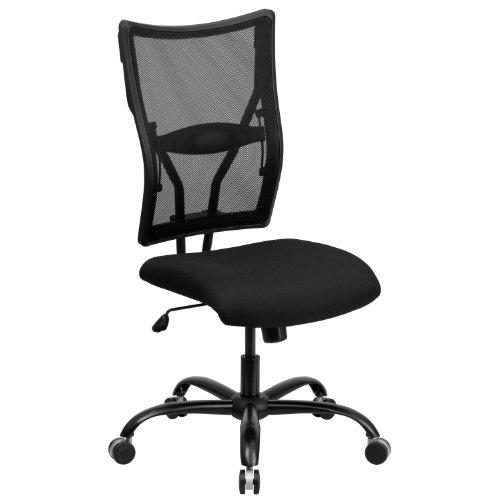 Flash Furniture HERCULES Series Big Tall 400 lb Rated Black Mesh Executive Swivel Ergonomic Office Chair -