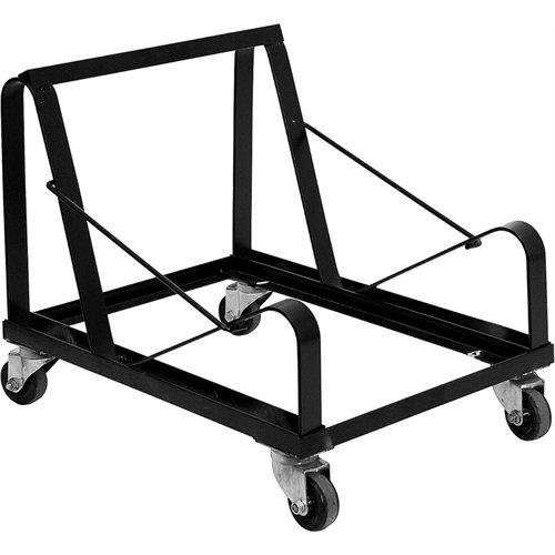 Flash Furniture HERCULES Series Black Steel Sled Base Stack Chair Dolly