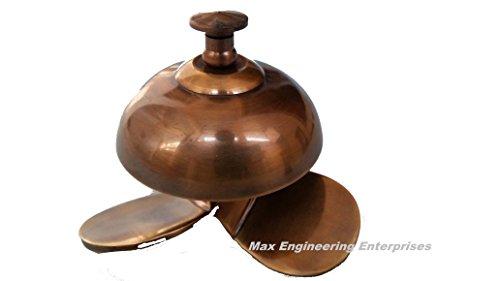 Vintage Solid Brass Desk Ring For Service Call Bell-Service Desk Bell -Office call bell By Max Engineering Enterprises