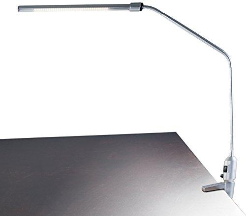 Lavish Home Contemporary Clamp LED Desk Lamp Silver 41