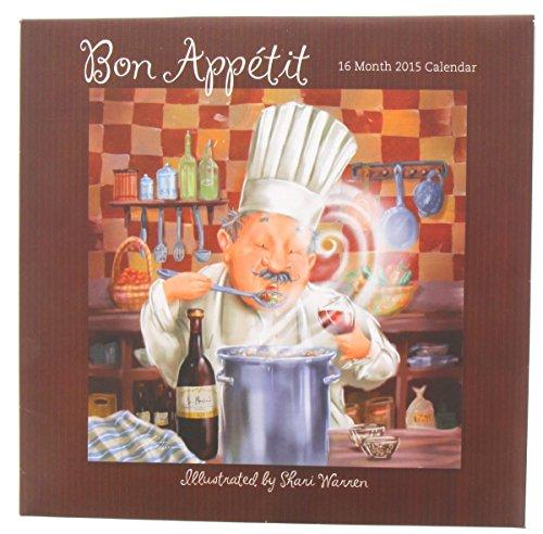 1 X Bon Appetit Chef 2015 Calendar By Shari Warren 16 Month Wall Calendar