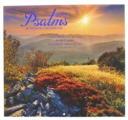 2015 Wall Calendar - 16 Month Psalms Design by 2015 Calendar