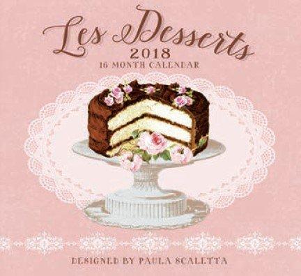 Desserts 2018 Premium Wall Calendar 16-month