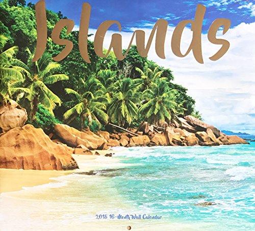 Islands 2018 Wall Calendar 16 Months