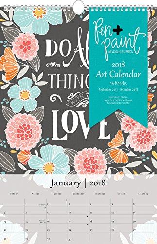 Summit 2018 Art Wall Calendar 16 Months 12 x 1838 inches 98018