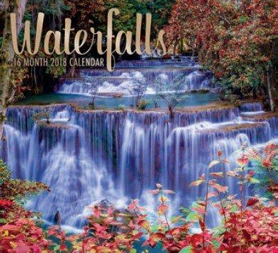 Waterfalls 2018 Wall Calendar 16-month
