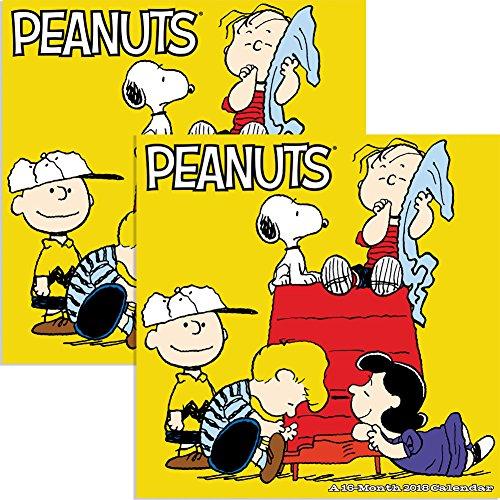 Set2 2018 Peanuts 12 X 12 Wall Calendar w Snoopy Charlie Brown Lucy