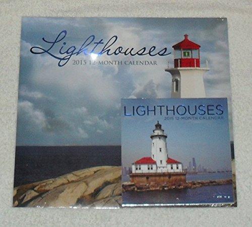 1 X Lighthouses 2015 Wall Calendar w Miniature Light Houses Calendar