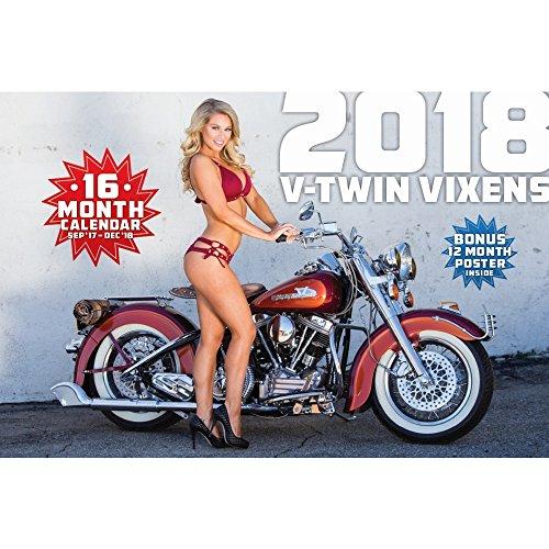 2018 V-TWIN VIXENS CALENDAR w HARLEYS PIN-UPS