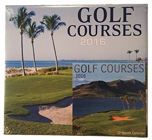 Golf Courses 2016 12 Month Wall Calendar w Mini Desk Calendar by Greenbrier