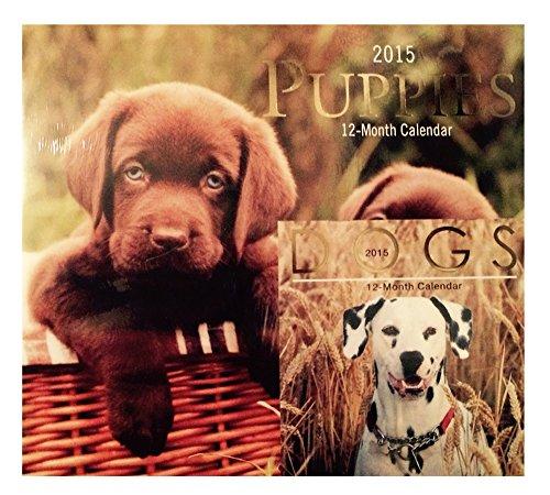Puppies 2015 Wall Calendar w Miniature Dogs Calendar
