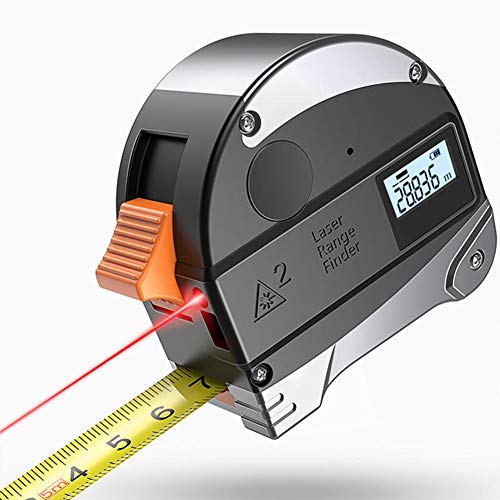 ASWT-Electronic Tape MeasureUSB Rechargeable Steel Tape Measure Smart Ruler Automatic Lock Button Infrared High-Precision Measuring Rangefinder