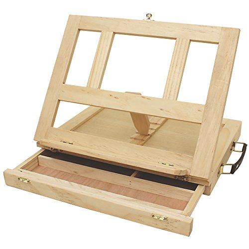 Art Alternatives Marquis Artists Adjustable Desk Box Easel Natural