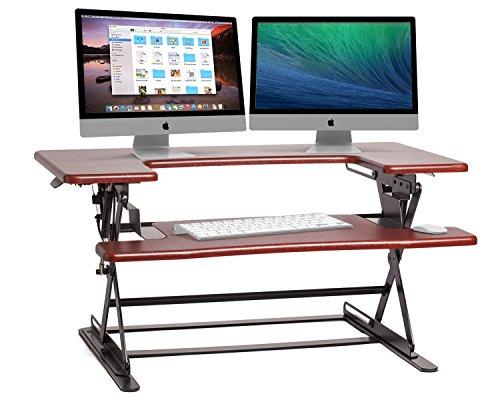 Halter ED-600 Preassembled Height Adjustable Desk Sit  Stand Elevating Desktop - Cherry