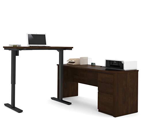 BESTAR Prestige  L-Desk Including Electric Height Adjustable Table Chocolate