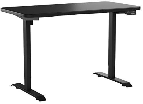 FlexiSpot EN1B-R5528B Electric Height Adjustable Desk 55 x 28 Inches Home Office Sit Stand Up DeskBlack Frame 55 inch Black Top