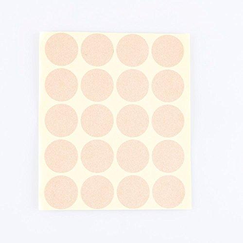 1000pcs 1 blank round kraft paper gift sticker wholesale retail label