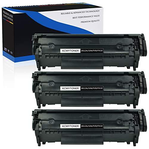 AMTONER 3-Pack Q2612A Compatible Toner Cartridge for HP 12A Q2612A Toner Cartridge use with Laserjet Printer 1010 1012 1015 1018 1020 1022 1022n 1022nw 3015 M1005 M1319F 3030 3050 3052 3055 Black
