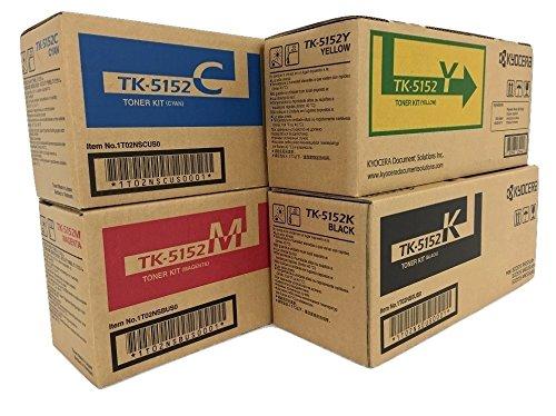 KYOCERA TK5152 Black Cyan Magenta Yellow Original LaserJet Toner Cartridge Set for Kyocera ECOSYS M6035cidn M6535cidn and P6035cdn