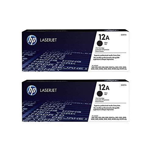 HP 12A  Q2612A  Toner Cartridge  Black - 2 Pack