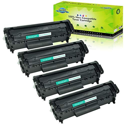Nineleaf Compatible Laser Toner Cartridge Replacement for HP 12A Q2612A Laserjet 1012 1018 1020 1022 3015 3020 3030 3050 3052 3055 M1319 1010 1015 1022n 1022nw M1005 M1319F M1005MFP Black4 Pack