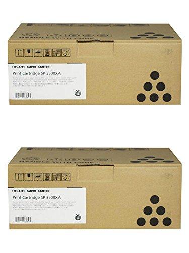 Ricoh 406989 High Yield Black Toner Cartridge 2-Pack for Aficio SP 3500 3510