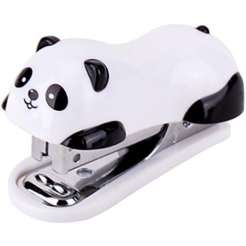 Mini Cartoon Panda Stapler Set For Student Use Office Desktop Stationery