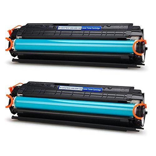 IKONG 2-BLACK Compatible Toner Cartridge for Canon 128 78A work with LaserJet Pro P1606dn M1536dnf Canon ImageClass D530 MF4770n MF4880dw MF4890dw MF4570dw D550Canon FaxPhone L190 L100