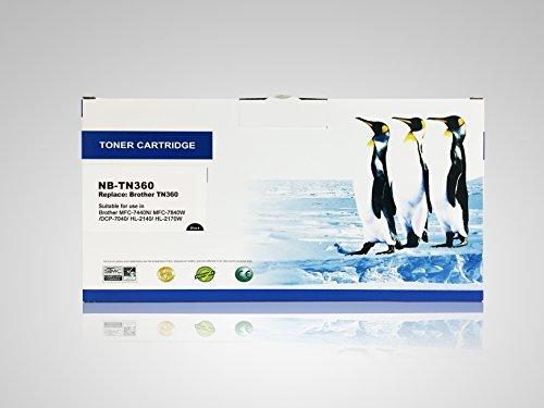 Super Supply Compatible Brother Tn360 Tn-360 Toner Black Cartridge for Brother MFC-7440N MFC-7840WDCP-7040HL-2140 HL-2170W Printer