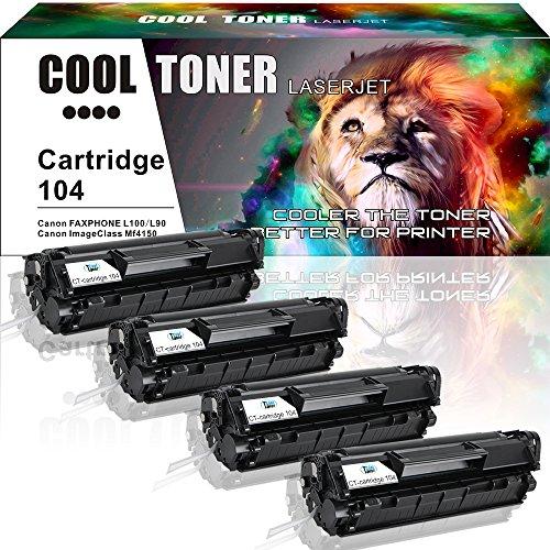 Cool Toner 4 Pack Compatible 104 Cartridge 104 CRG-104 Fx-10 Fx-9 Black Toner Cartridge For Canon 104 Canon Faxphone L100 L90 L120 ImageClass MF4350d MF4150 D480 MF4350 MF4370dn MF4270 LBP3000 Printer