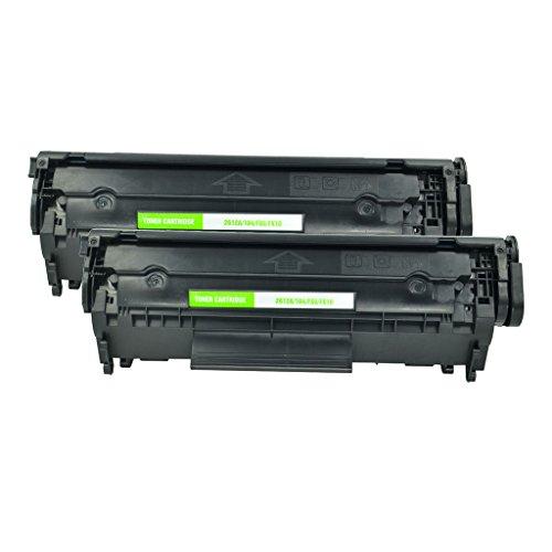 NineLeaf 2PK Compatible Black Toner Cartridge Replacement for Canon 104 0263B001 FX9 FX10 for FAXPHONE L90 FAXPHONE L120 ImageClass D420 D480 MF4150 MF4270 MF4350d MF4370dn MF4690 Laser Printer