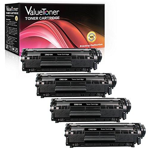 ValueToner Compatible for Canon 104 0263B001 FX-9 FX-10 crg-104 4 Black Toner Cartridge Replacement for Faxphone L90 L120 imageCLASS D420 D480 MF4150 MF4270 MF4350d MF4370dn MF4690 Laser Printer