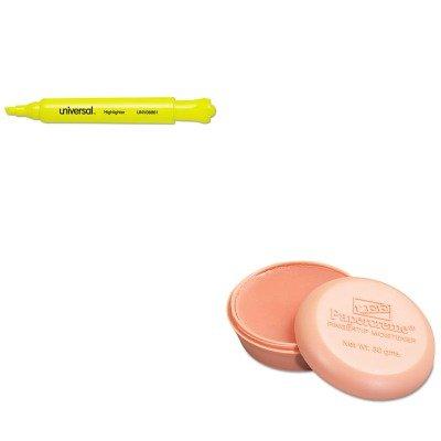 KITLEE12000UNV08861 - Value Kit - Lee Papercreme Fingertip Moistener LEE12000 and Universal Desk Highlighter UNV08861