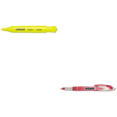 KITPAP21002BHUNV08861 - Value Kit - Paper Mate Liquid Flair Porous Point Stick Pen PAP21002BH and Universal Desk Highlighter UNV08861