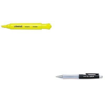 KITPIL36100UNV08861 - Value Kit - Pilot Dr Grip Ballpoint Retractable Pen PIL36100 and Universal Desk Highlighter UNV08861